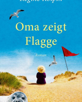 Oma zeigt Flagge