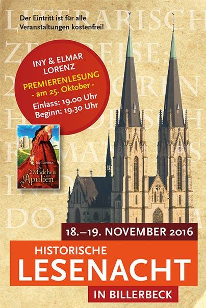 Historische Lesenacht in Billerbeck